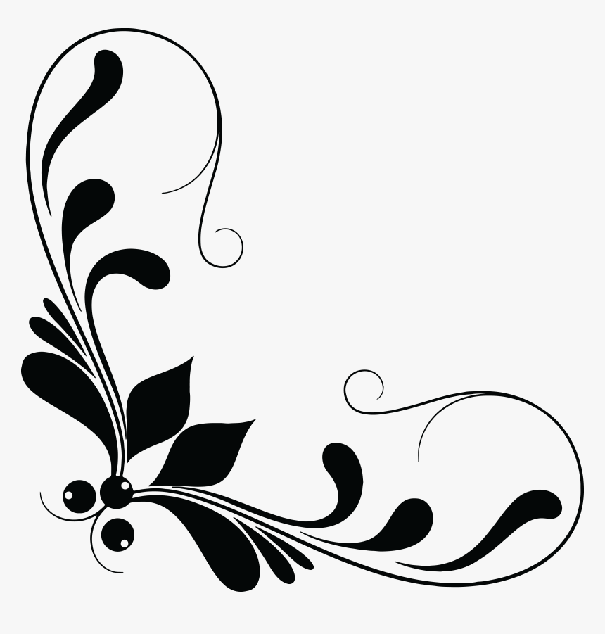 Free Clipart Of A Floral Design Element.