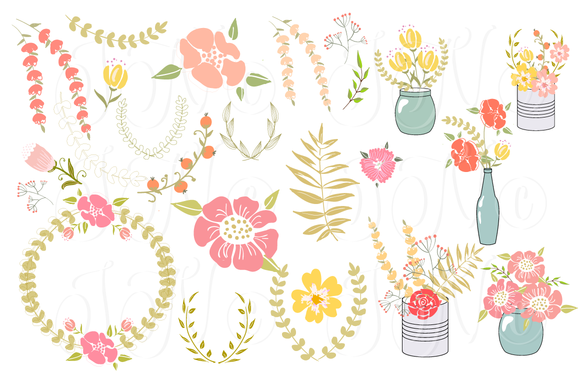 Free Bridal Floral Cliparts, Download Free Clip Art, Free Clip Art.