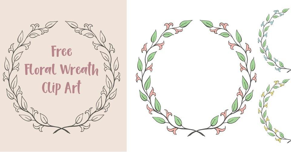 Free floral wreath clipart 9 » Clipart Portal.