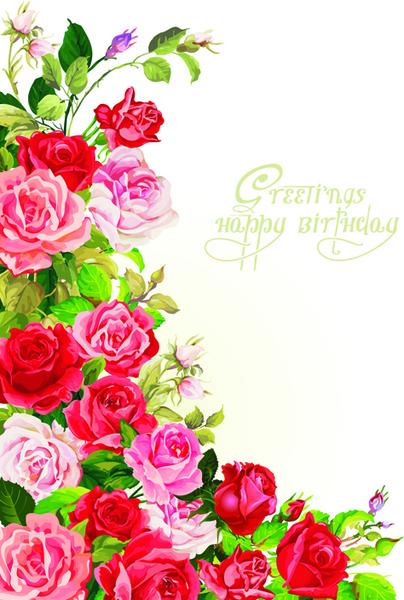 Happy birthday flower banner clipart free vector download (21,899.