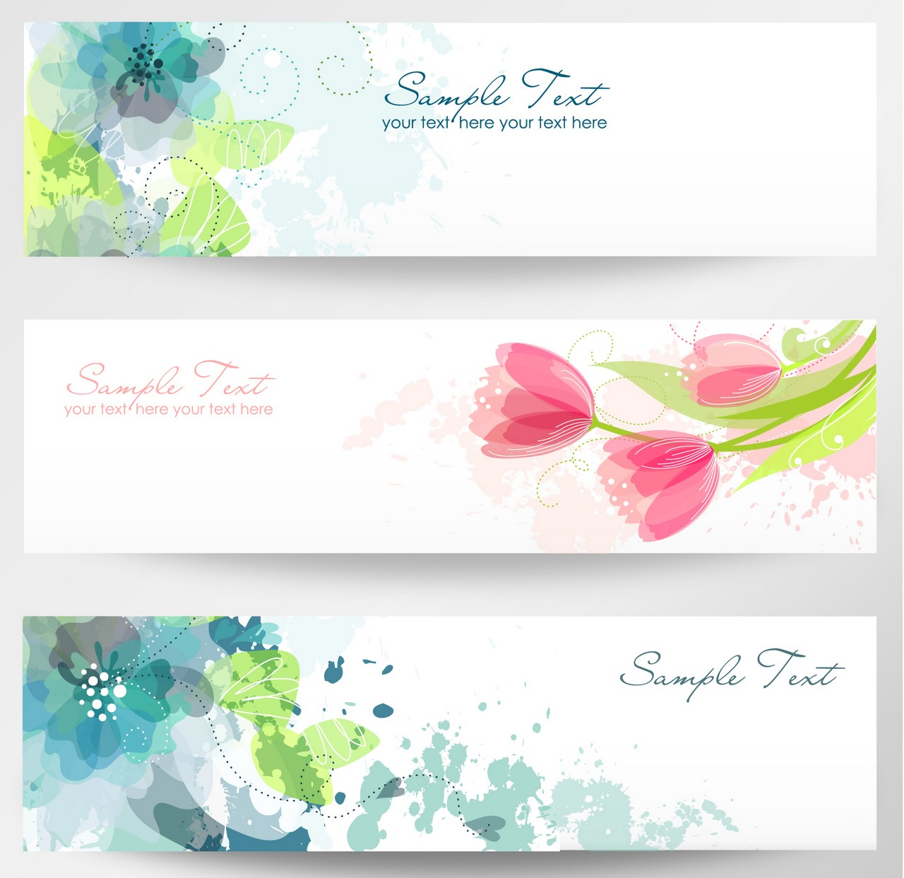 Free flower banners.