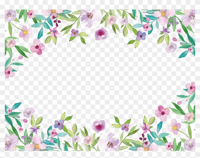 Free Watercolor Flower Border at PaintingValley.com.