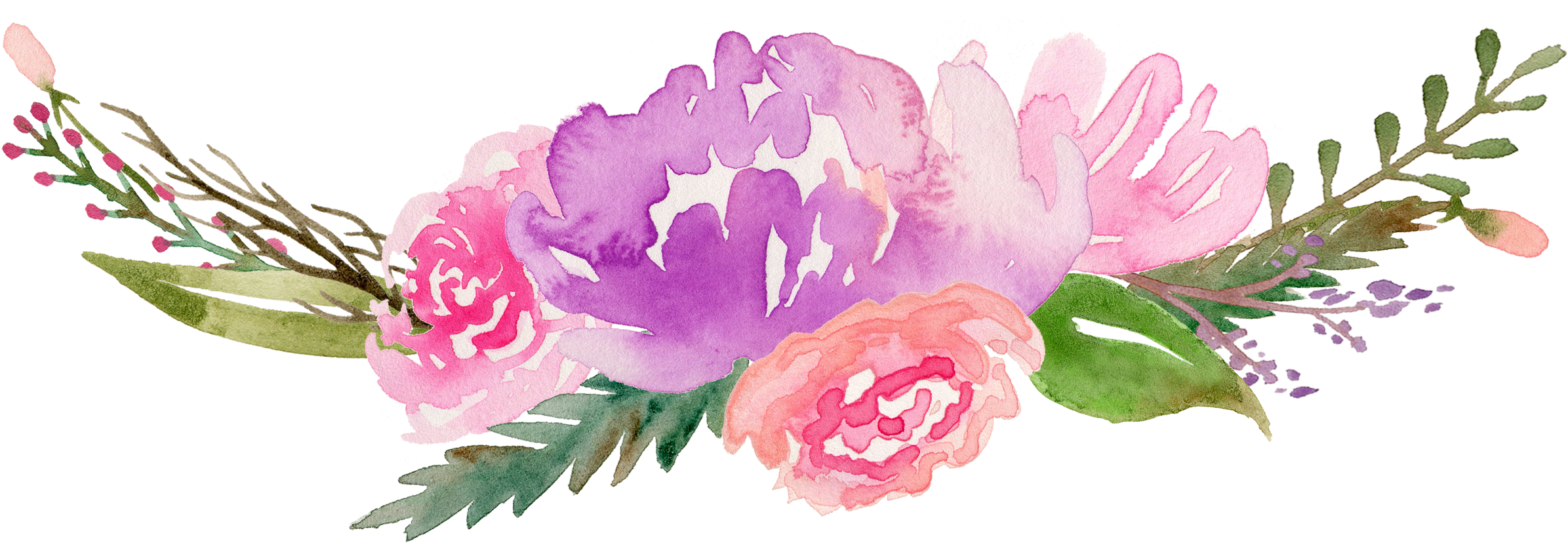HD Royalty Free Flowers Watercolor Painting Clip Art Along.
