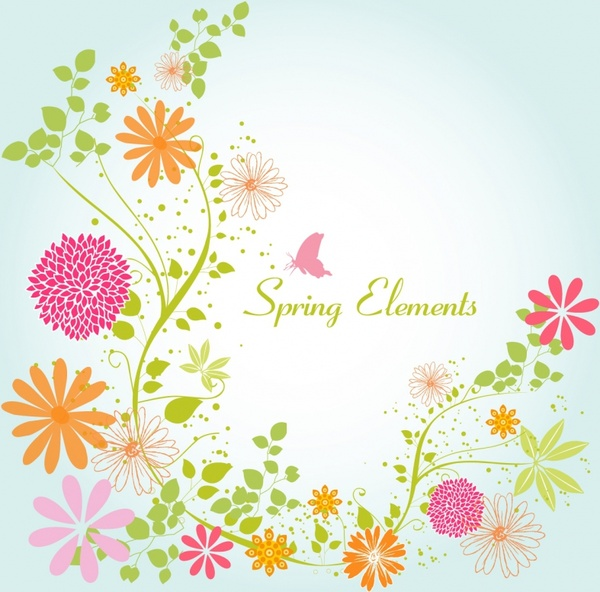 Spring flowers clip art free vector download (210,834 Free vector.