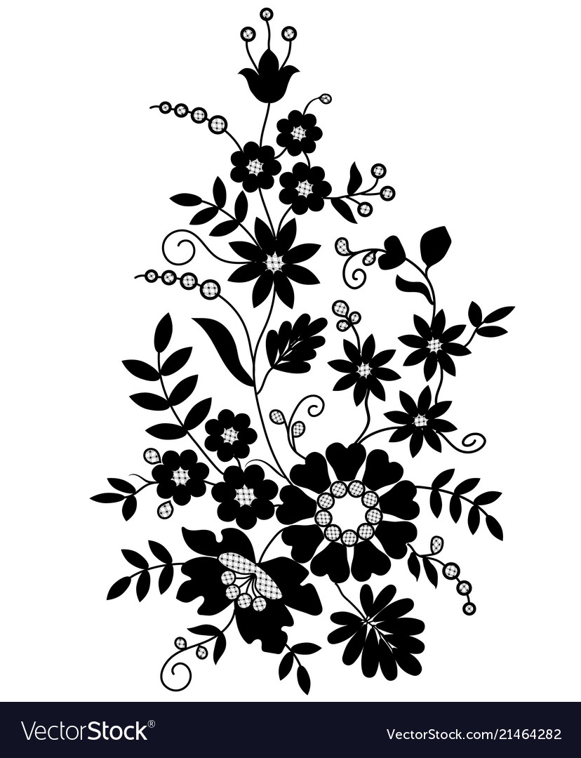 Silhouette of flowers.