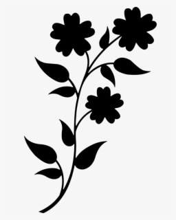 Free Flower Silhouette Clip Art with No Background.