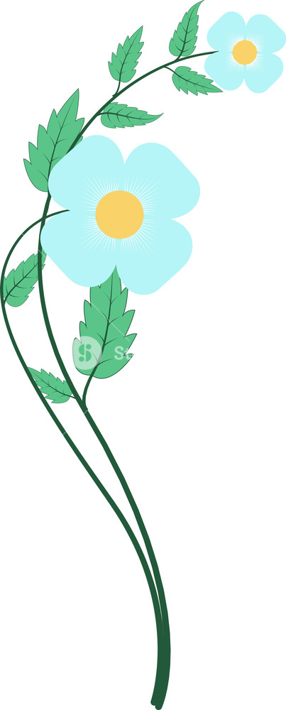 Blue Flower Vector Clipart Royalty.