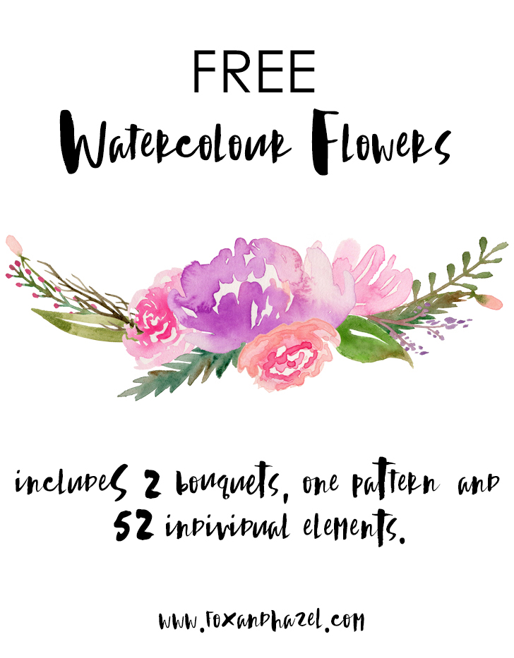 Free Watercolour Flower Graphics!.