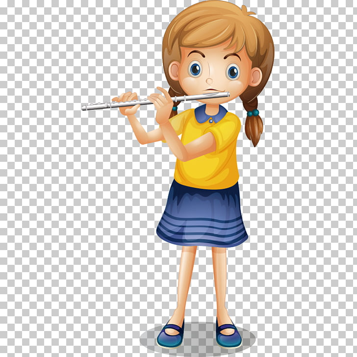 Flute , Flute the little girl PNG clipart.