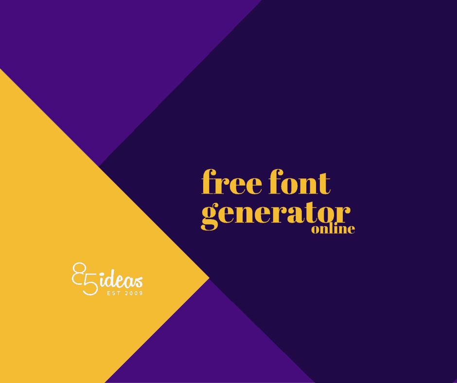 11 Free Font Generator Online.