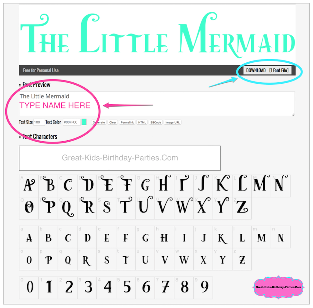 Little Mermaid Font.