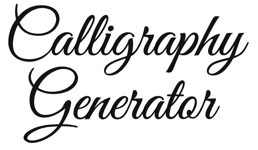 Free Online Calligraphy Generator (Windows, Mac, iPad) — Rapid.