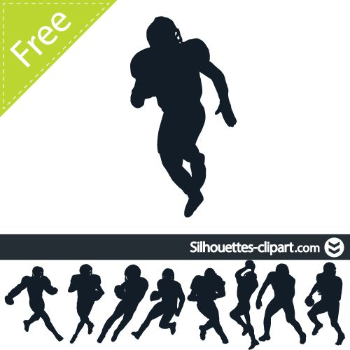 american football players vector silhouette.
