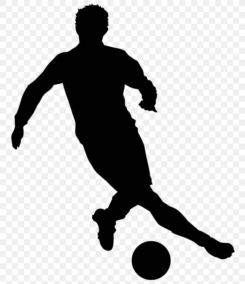 Clip Art Football Player Silhouette, PNG, 768x950px.