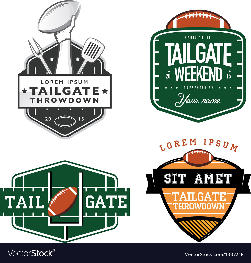 Set of American football tailgate design elements.