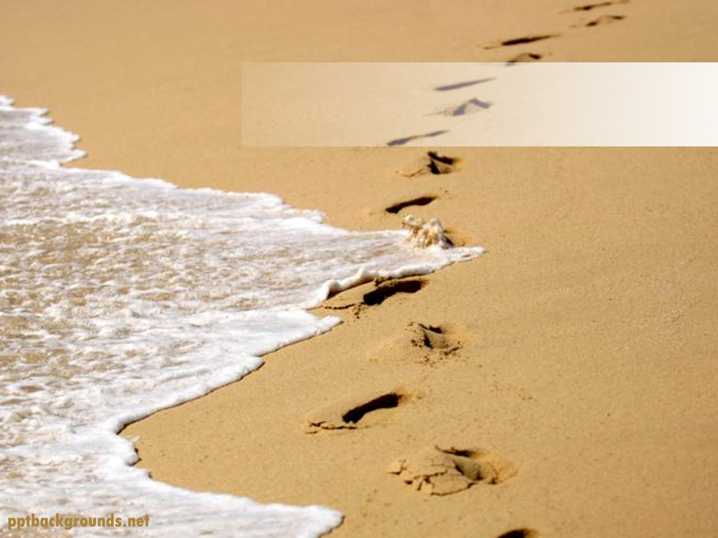 Footprints In The Sand Backgrounds For PowerPoint.