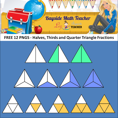 FREE Fraction Clipart.