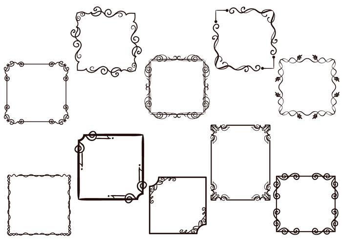 Free Frames Vectors.