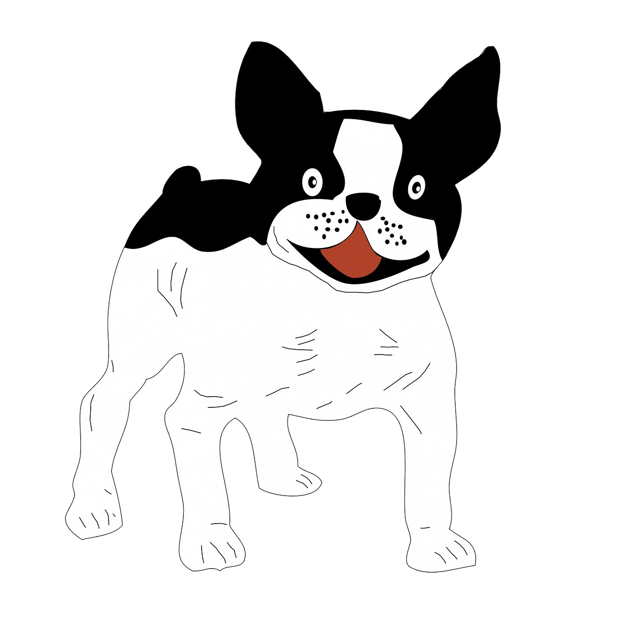 French bulldog clipart. Free download..