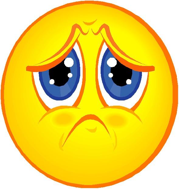 Sad Face Clip Art N3 free image.