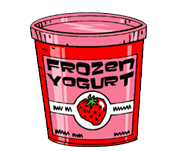 Free Can of Frozen Yogurt Clip Art.