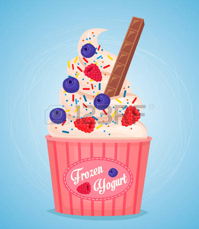 259 Frozen Yoghurt Stock Vector Illustration And Royalty Free.