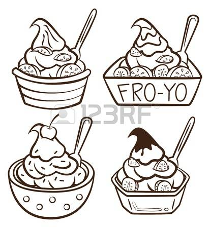 1,319 Frozen Yogurt Stock Illustrations, Cliparts And Royalty Free.