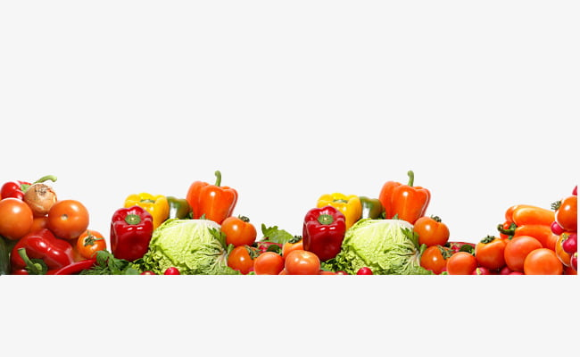 Fruit and vegetable border texture PNG clipart.