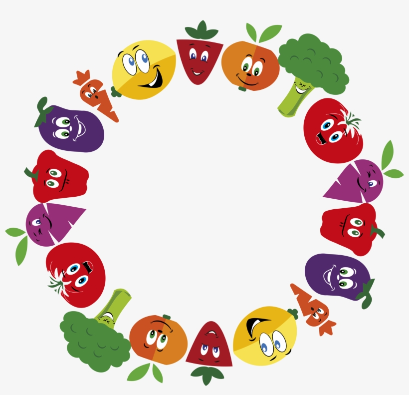Fruits And Vegetables Clipart Border.