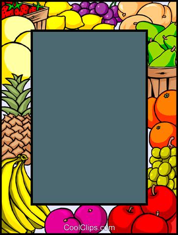 Free Fruit Border Clip Art.
