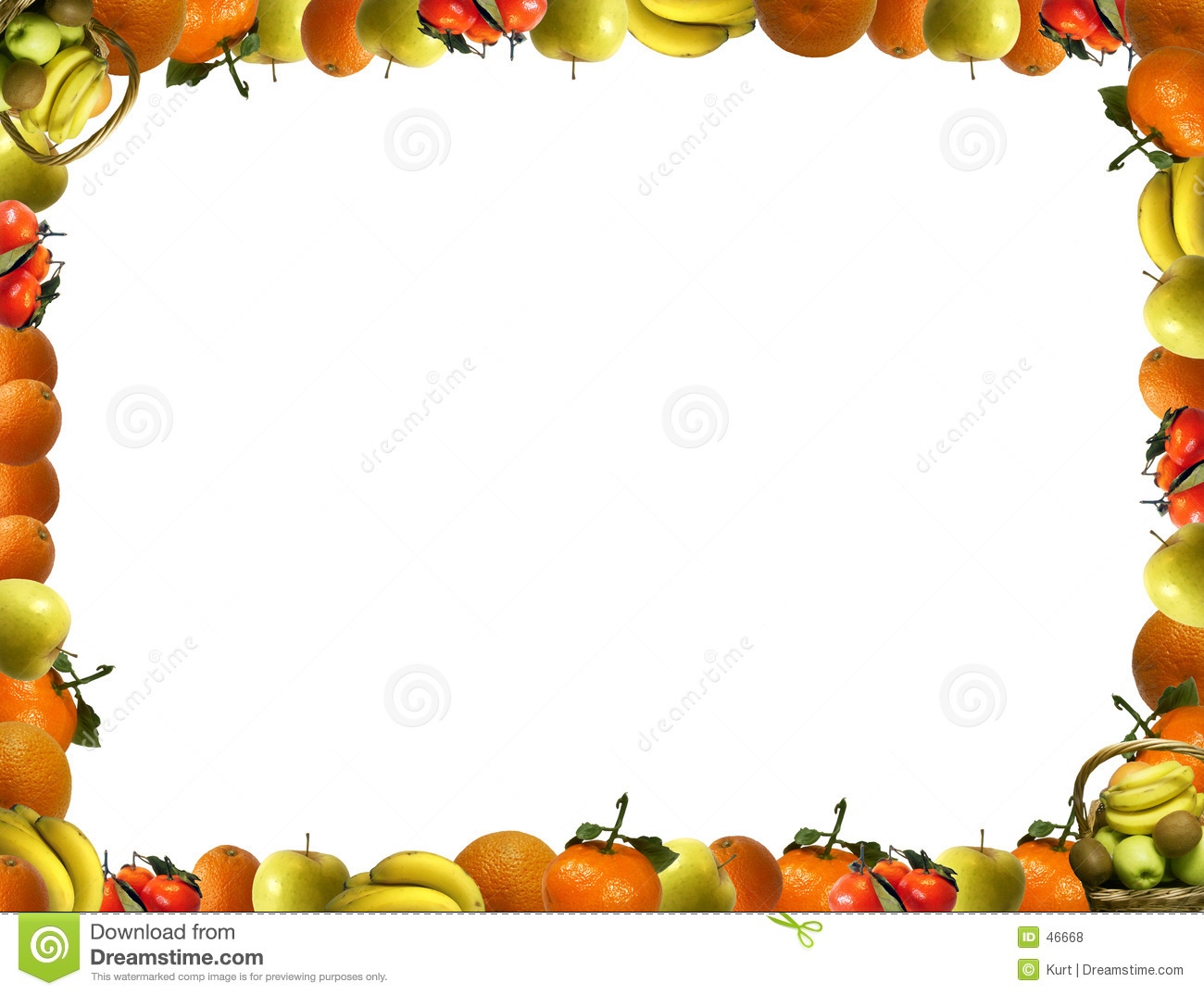 Frame That Consists Of Fruit Royalty Free Stock Photos.