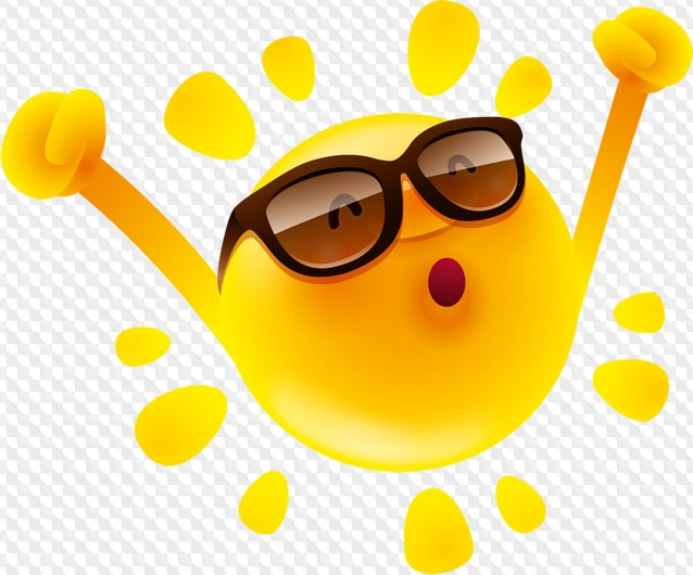 Fun Sun Clipart with transparent background, PNG, free download.