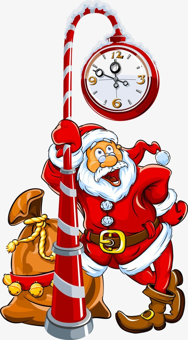 Funny Cartoon Santa Claus, Cartoon Vector, Santa Vector.