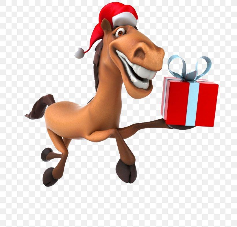Horse New Year Santa Claus Christmas Clip Art, PNG.