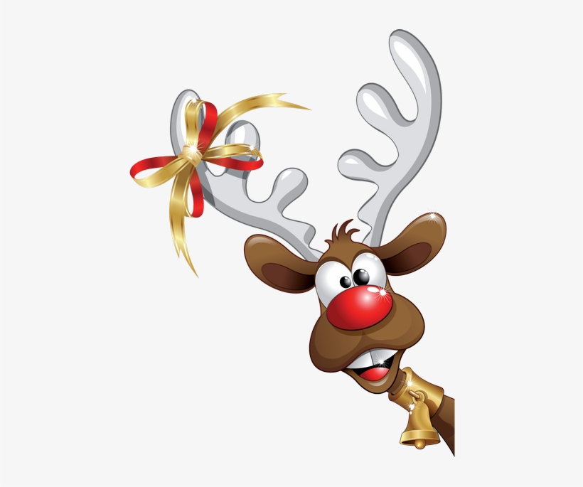 28 Collection Of Funny Christmas Reindeer Clipart.