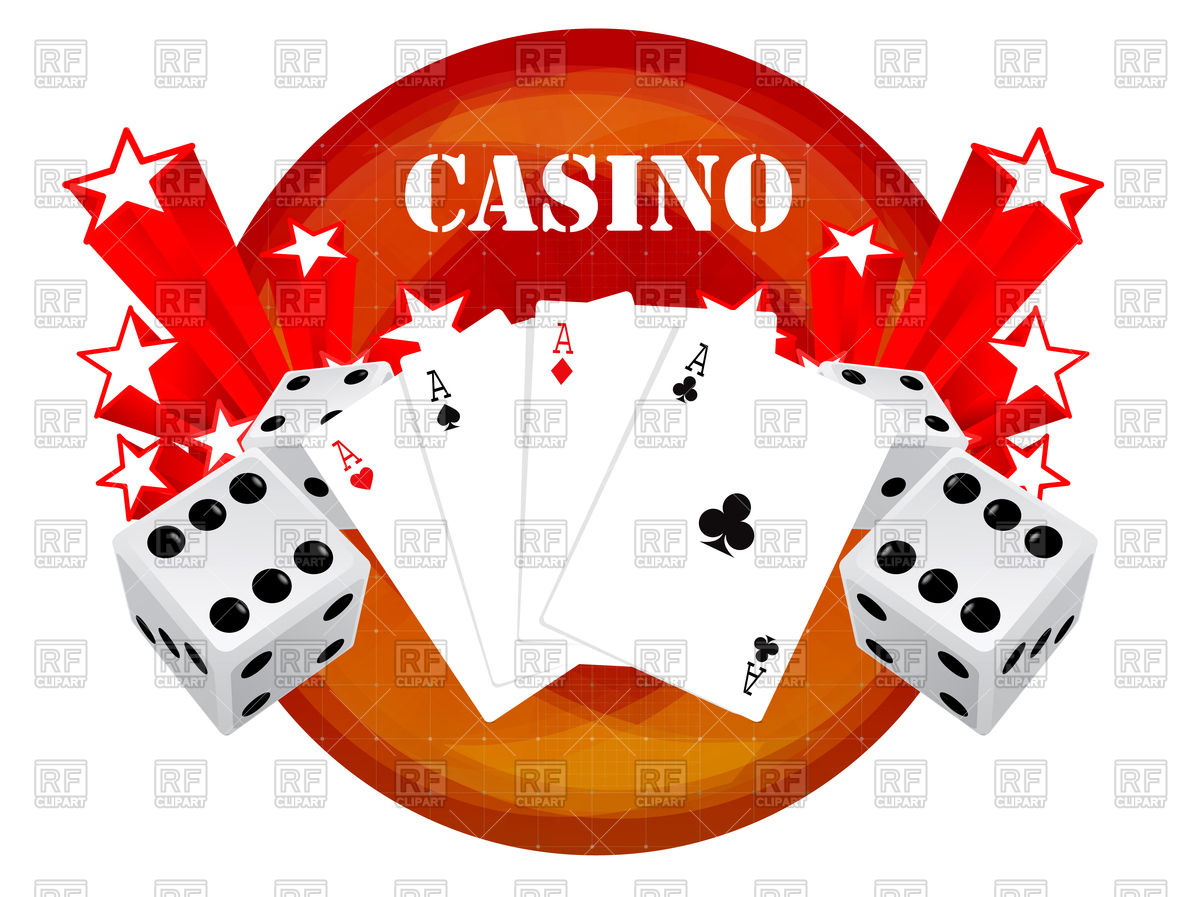Gambling background with casino elements Stock Vector Image.