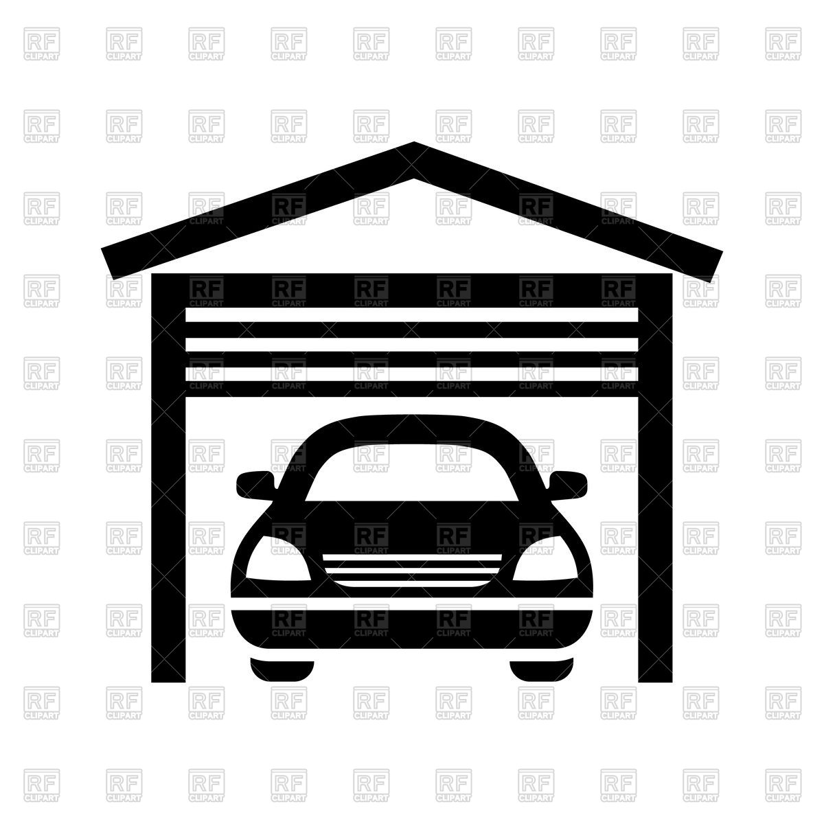 Garage black icon isolated on white background Stock Vector Image.