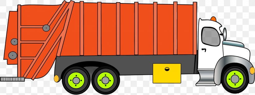 Garbage Truck Waste Car Clip Art, PNG, 2234x836px, Garbage.