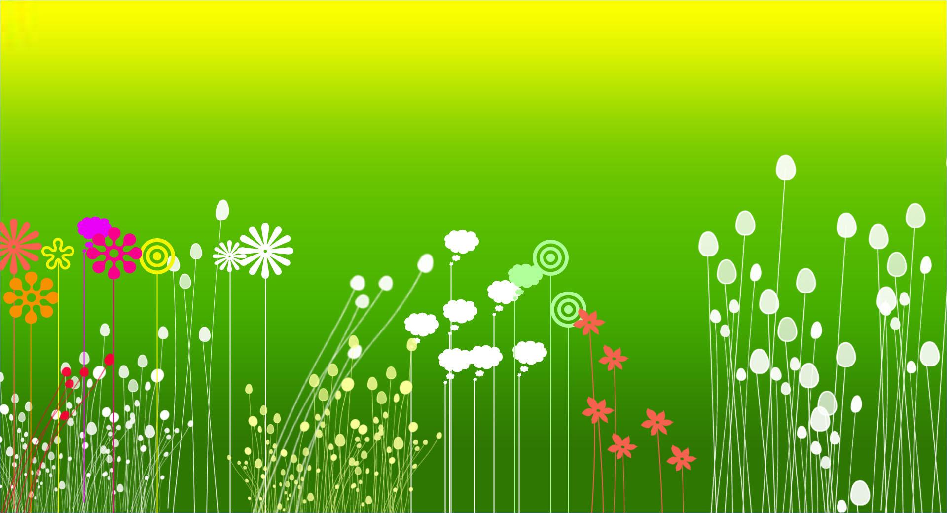 Flower Garden Clipart Background Free.