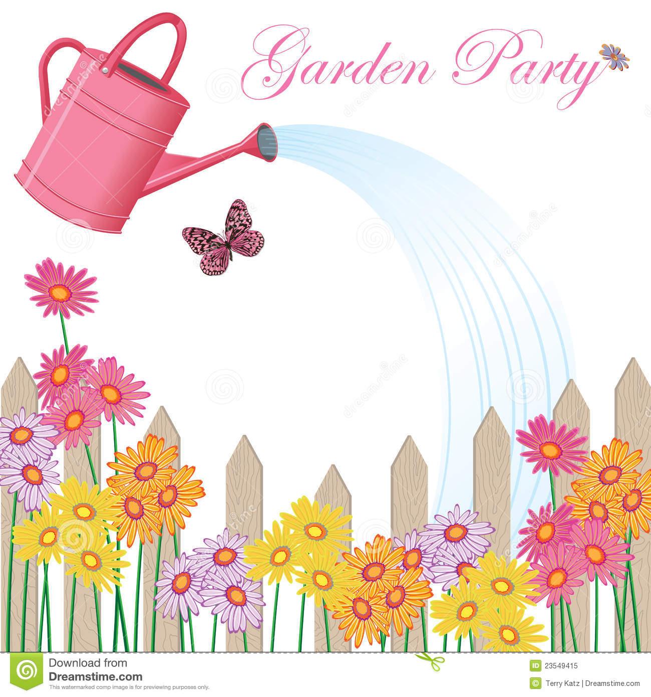 Garden Party Clipart.