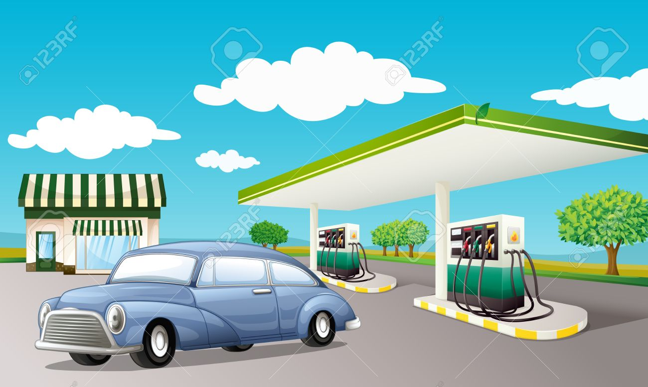 259 Gas Station free clipart.