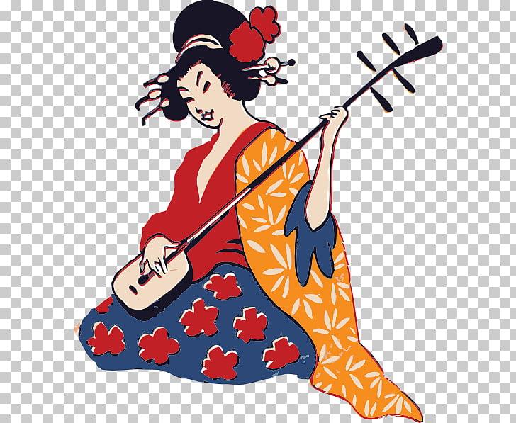 Japanese , Geisha PNG clipart.