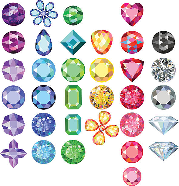 Best Gemstone Illustrations, Royalty.