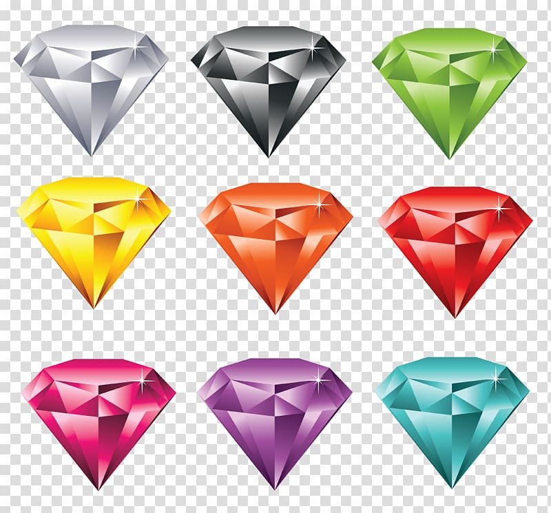 Diamond color Gemstone , Free Of Jewelry transparent background PNG.