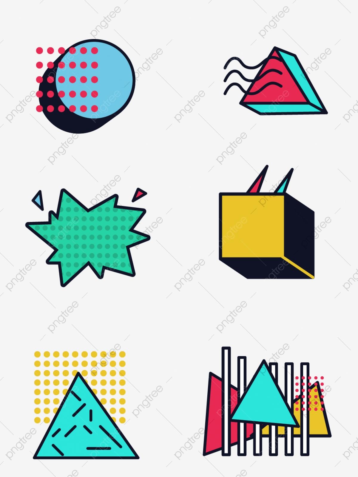 Color Geometric Border Texture, Color Clipart, Frame, Pattern PNG.