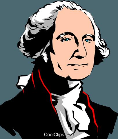 George Washington Royalty Free Vector Clip Art illustration.