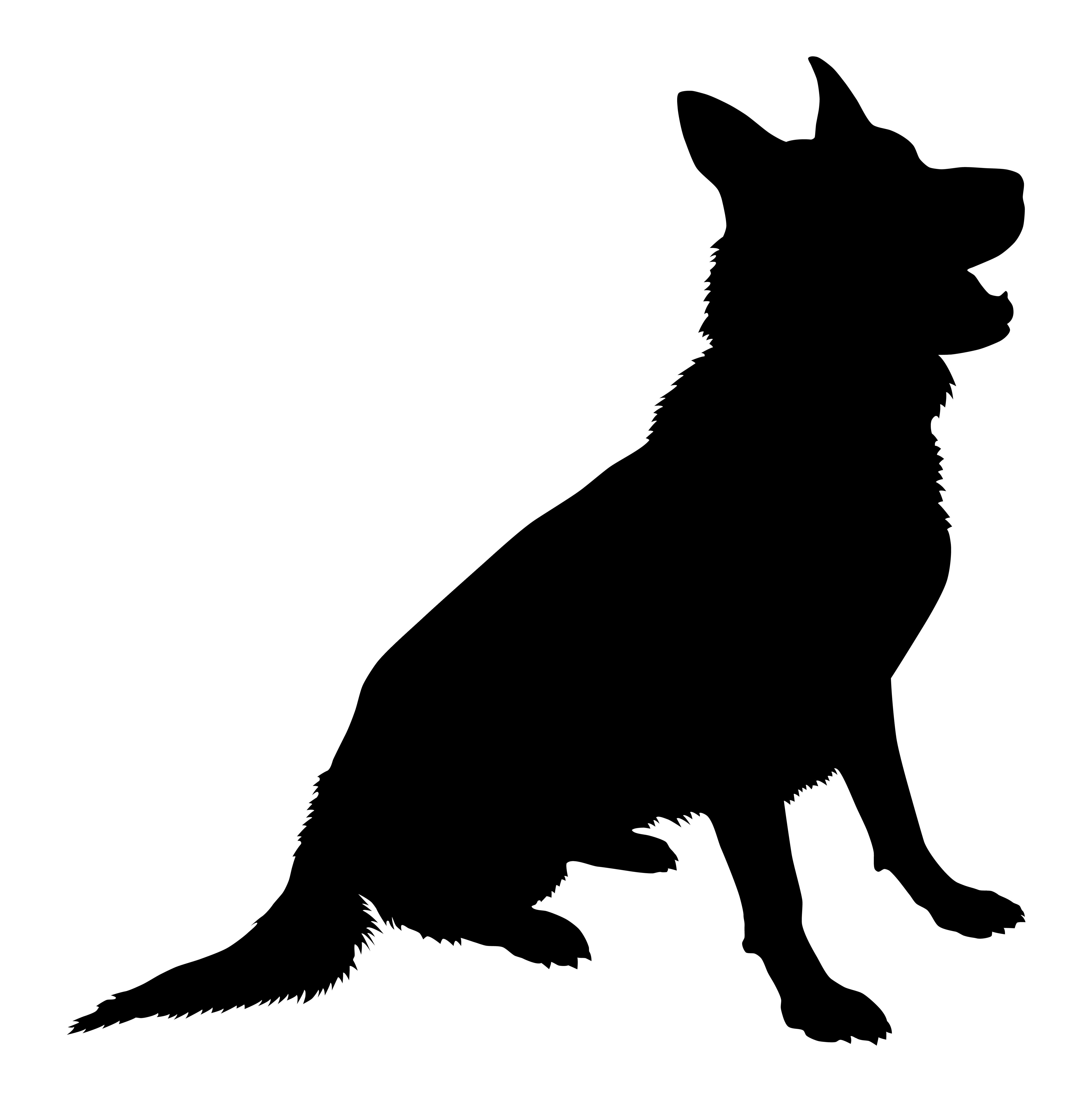 German Shepherd Labrador Retriever Silhouette Royalty.