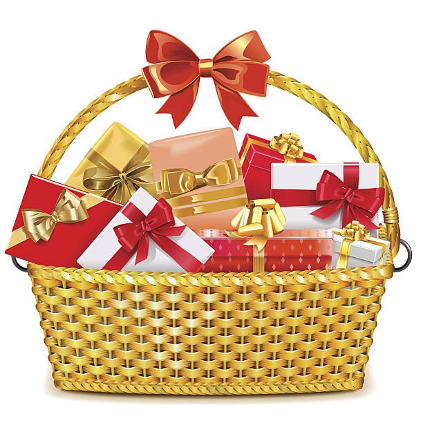 Best Gift Basket Illustrations, Royalty.