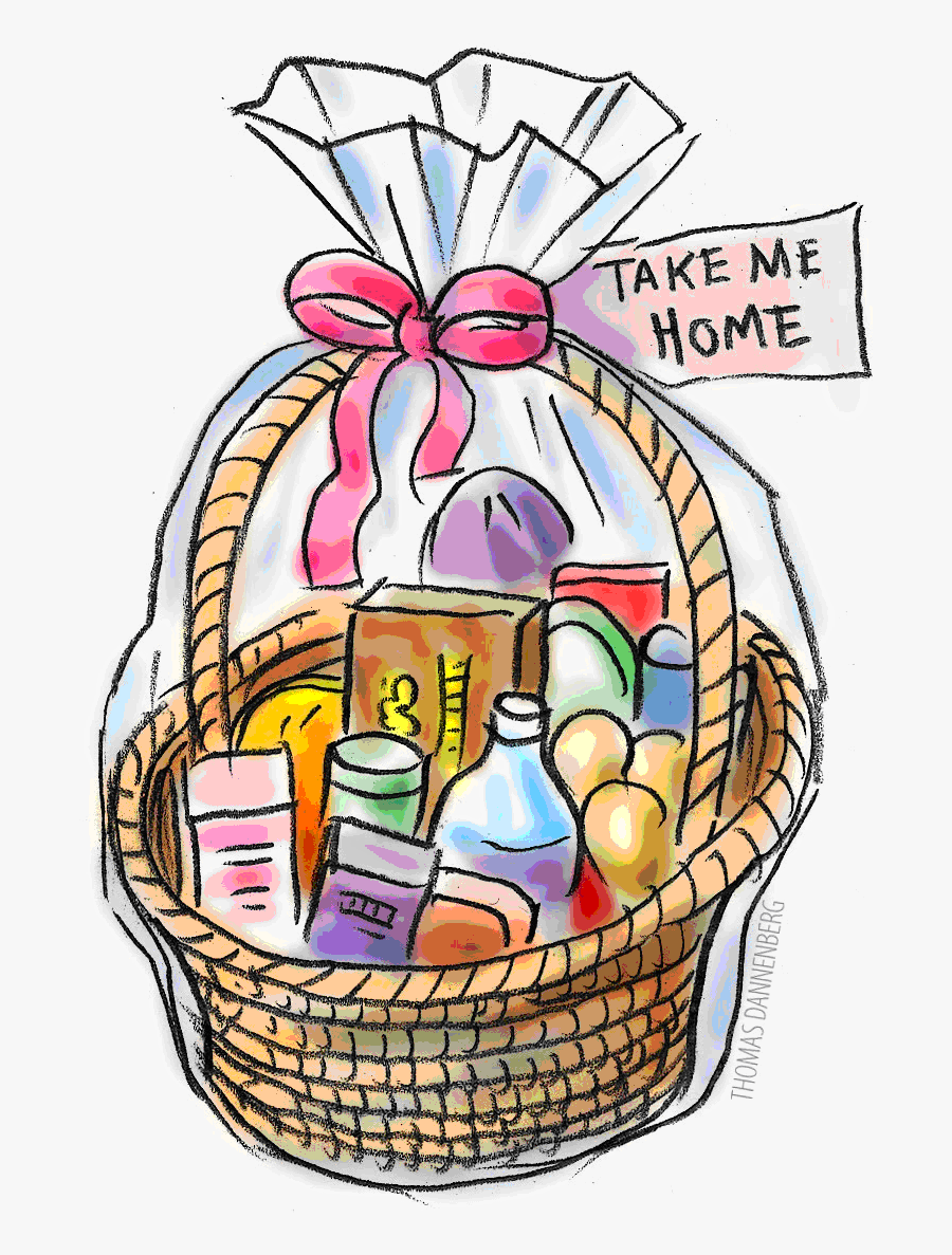 Thanksgiving Raffle Basket Clipart.