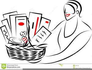 Free Clipart Of Gift Basket.